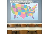 Fathead Dry Erase USA Map with Removable State Names Wall Decal