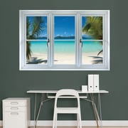 Virgin Islands Beach Instant Window wall Decal