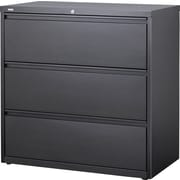 "Staples HL8000 36"" Wide Lateral File, 3 Drawer, Charcoal"