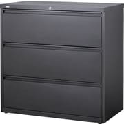 "Staples HL8000 42"" Wide Lateral File, 3 Drawer, Charcoal"