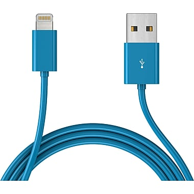 Mota Apple Compatible 6' iPhone 5 Lightning Cable, Blue