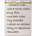 Wizard Wall Easel Pads, Dry Erase Static Cling Film, White, 15 Sheet Pads, 6 pads/pack