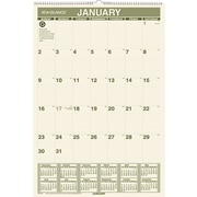 "2016 AT-A-GLANCE® Recycled Monthly Wall Calendar, 15 1/2"" x 22 3/4"", Green, (PM3G-28)"