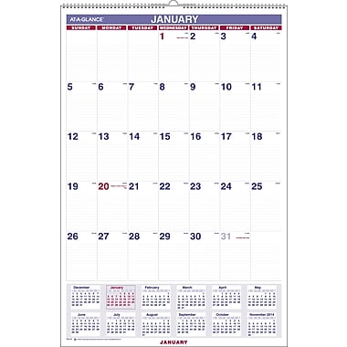 2015 AT-A-GLANCEMonthly Wall Calendar, 20in. x 30in.