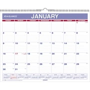 "2016 AT-A-GLANCE® Wall Calendar, 15'' x 12"", White/Blue, (PM8-28)"