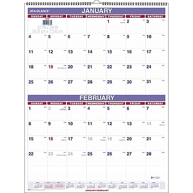 2015 AT-A-GLANCE® Two-Month Wall Calendar, 22in. x 29in.