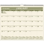 "2016 AT-A-GLANCE® Recycled Wall Calendar, 15"" x 12"", Green, (PMG77-28)"