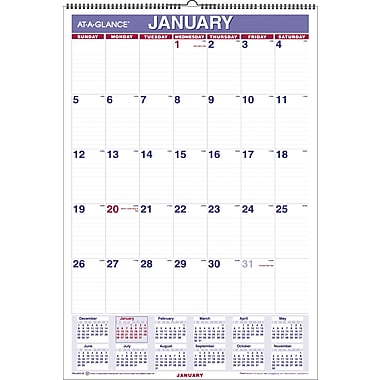 2015 AT-A-GLANCE® Monthly Wall Calendar, 15 1/2in. x 22 3/4in.