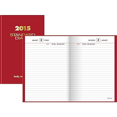2015 AT-A-GLANCE® Standard Diary® Daily Reminder, 5in. x 7 1/2in.
