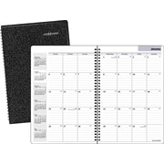 "2016 DayMinder® Monthly Planner, 7 7/8"" x 11 7/8"", Black, (SK2-00)"