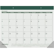 AT-A-GLANCE 2015 Recycled 1-Page-Per-Month Fashion Calendar, Jan.-Dec., Desk Pad, Green, 22 x 17