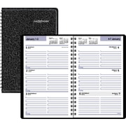 "2016 DayMinder® Weekly Appointment Book Planner, 4 7/8"" x 8"", Black, (SK41-00)"