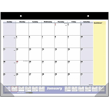 2015 AT-A-GLANCE® QuickNotes® Desk Pad, 22in. x 17in.