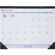 2015 AT-A-GLANCE® Desk Pad, Blue/Gray, 22 x 17