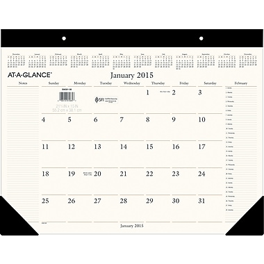 2015 AT-A-GLANCE® Executive Desk Pad, 22in. x 17in.