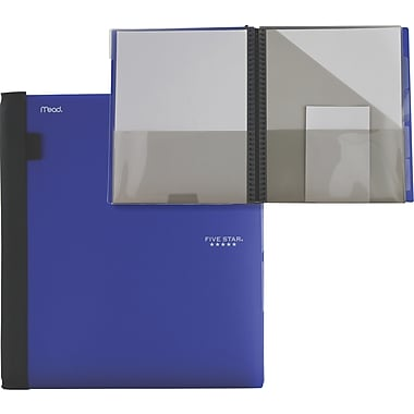Five Star® 15 Pocket Poly Portfolio, Assorted Colours