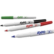 Expo Low Odour Dry-Erase Markers, Ultra Fine, Assorted, 4/pack