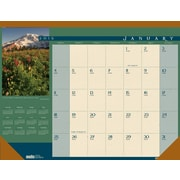 House of Doolittle™ 2015 , Monthly, January-December, Landscapes Desk Pad Calendar, 22 x 17