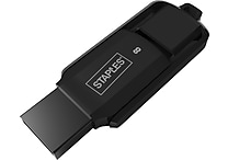Staples UFSTSW008GAPL 8GB USB 2.0 Flash Drive, Black