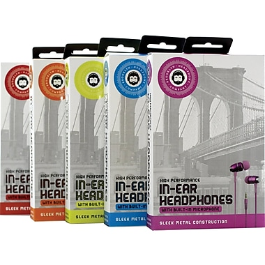 Brooklyn High Performance In-Ear Headphones with Mic
