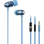 Brooklyn High Performance In-Ear Headphones with Built-In Microphone, Blue