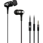 Brooklyn High Performance In-Ear Headphones with Built-In Microphone, Black
