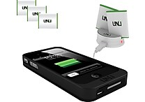 uNu Exera Battery Case, Two Extra Batteries, and Dock for iPhone 4/4S