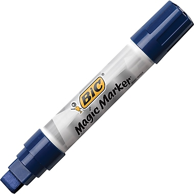 BIC® Magic Marker® Brand Window Marker, X-Large, Chisel Tip, Blue