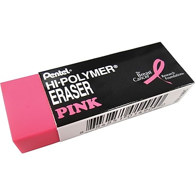 Pentel® - Gomme à effacer Hi-Polymer au ruban rose, paq./2
