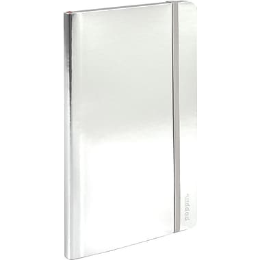 Poppin Medium Soft Cover Notebook, Silver (100010)