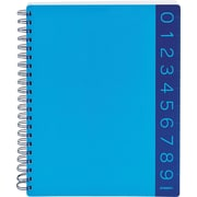 Poppin Pool Blue 3-Subject Notebook, Ruler Edged
