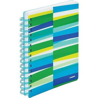 Poppin Pool Blue Streamer Medium Spiral Notebook