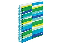 Poppin Pool Blue Streamer Medium Spiral Notebook