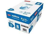 Staples® Multiuse Copy Paper, 8 1/2' x 11', 8-Ream Case