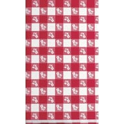 "Creative Converting Red Gingham 29"" x 72"" Rectangular Stay Put Tablecover"