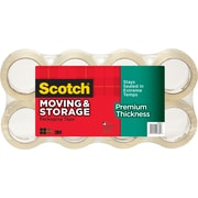 "Scotch® Moving & Storage Tape, Clear, 1.88"" x 54.6 yds, 8 Rolls"