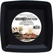 "Creative Converting Black 10.25"" Square Banquet Plates, 8/Pack"