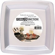 Creative Converting Clear 10.25 Square Banquet Plates, 8/Pack