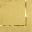 Creative Converting Glitz Gold 3-Ply Beverage Napkins with Pinstripe Border, 16/Pack
