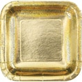 Creative Converting Glitz Gold 9in. Square Dinner Plates, 8/Pack