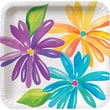 """Creative Converting Market Street 7"""" Square Luncheon Plates, 8/Pack"""