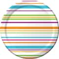 Creative Converting Happy Dots 9in. Round Dinner Plates Stripes, 8/Pack