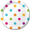 Creative Converting Happy Dots 7in. Square Luncheon Plates Dots, 8/Pack