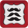 Creative Converting Mustache Madness 7in. Square Luncheon Plates, 8/Pack
