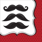 Creative Converting Mustache Madness 3-Ply Luncheon Napkins, 16/Pack