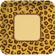 """Creative Converting Leopard 10"""" Square Banquet Plates, 8/Pack"""
