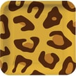 """Creative Converting Leopard 7"""" Square Luncheon Plates, 8/Pack"""