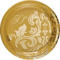 Creative Converting Gold Anniversary 7in. Luncheon Plates, 8/Pack
