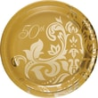 """Creative Converting Gold Anniversary 7"""" Luncheon Plates, 8/Pack"""