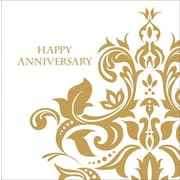 """Creative Converting Golden """"Happy Anniversary"""" 3-Ply Luncheon Napkins, 36/Pack"""